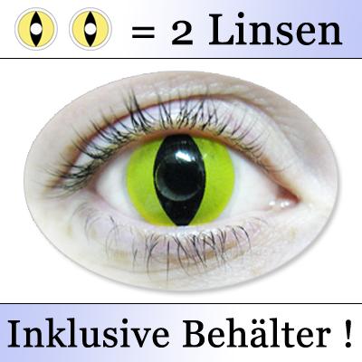 gelbe kontaktlinsen kwiksibs farbige katzenaugen yellow cat eyes contacts k501 ebay. Black Bedroom Furniture Sets. Home Design Ideas