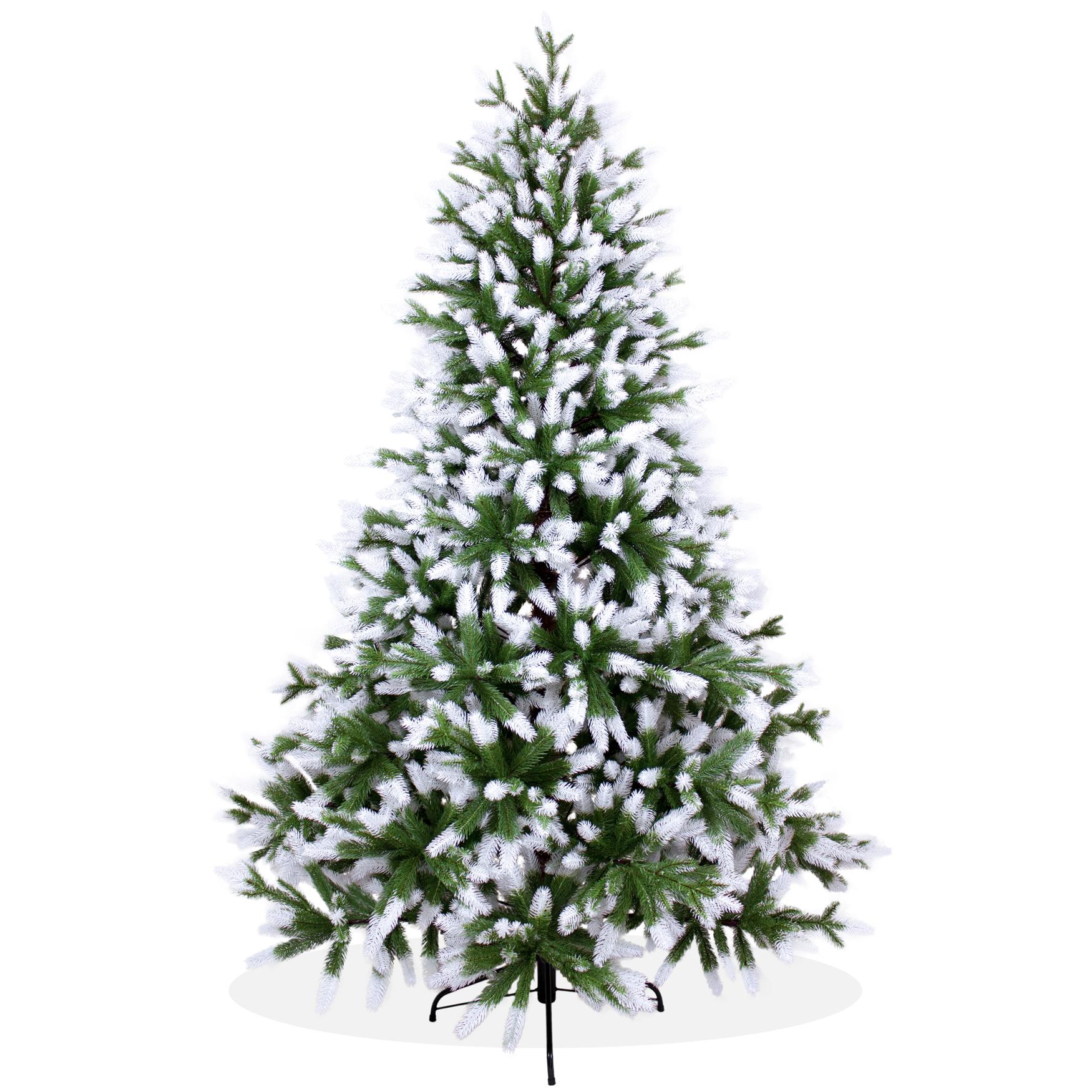 k nstlicher weihnachtsbaum 210cm pe spritzguss beschneiter premium tannenbaum nordmanntanne. Black Bedroom Furniture Sets. Home Design Ideas