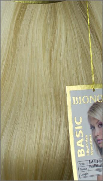 Clip-in Haar Extensions, BIONORA BASIC, #613, Platinblond, 43/53/63cm, 70/80/90 Gramm