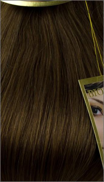 Clip-in 100% Remy Echthaar Extensions, BIONORA PREMIUM, #06, Mittelbraun, 40 50 60 (+) cm, 100/110/120Gr.