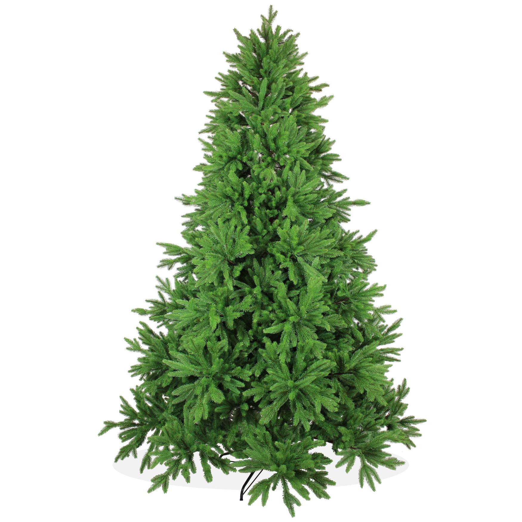k nstlicher weihnachtsbaum 240cm deluxe pe spritzguss gr ner tannenbaum nordmanntanne. Black Bedroom Furniture Sets. Home Design Ideas