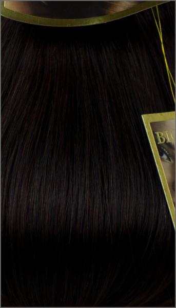 Clip-in Haar Extensions, BIONORA PROFESSIONAL, #02, Dunkelbraun, 40 50 60 (+) cm, 85/95/105 Gramm