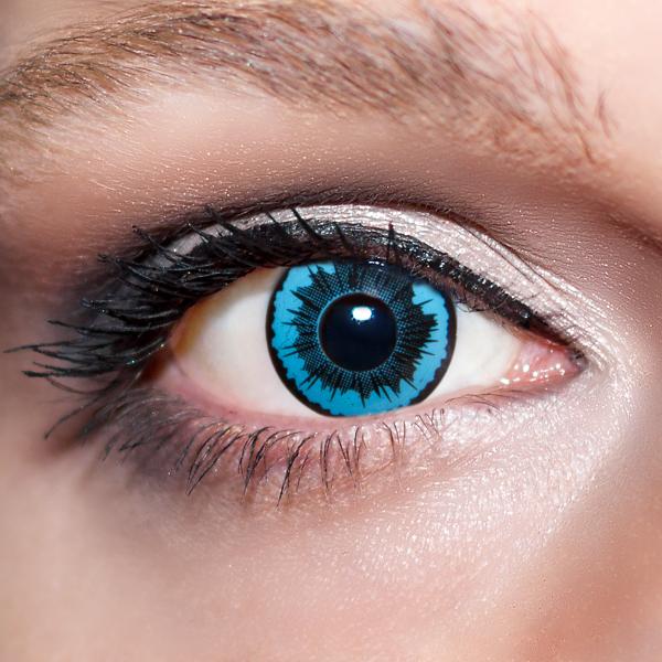 Blaue Kontaktlinsen farbige Engelsaugen Motivlinsen blau von KwikSibs, intensiv