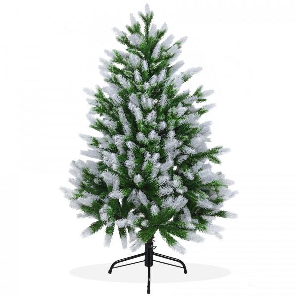 Künstlicher Weihnachtsbaum 120cm PE Spritzguss beschneiter Premium Tannenbaum Nordmanntanne, Christbaum