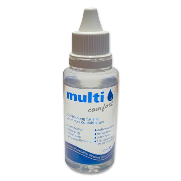 (8,90 EUR/100ml) 50ml -multi comfort- Kombilösung All-in-One Kontaktlinsenpflegemittel Reinigung