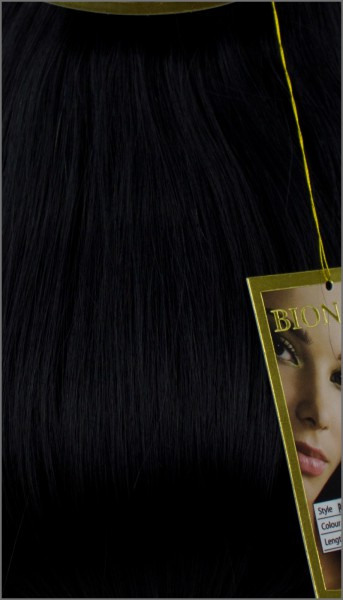 Clip-in Haar Extensions, BIONORA PROFESSIONAL, #01, Tiefschwarz, 40 50 60 (+) cm, 85/95/105 Gramm
