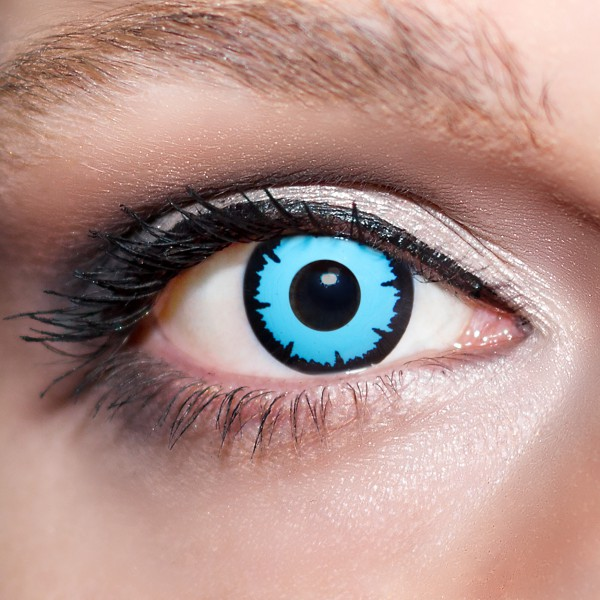 Blaue Kontaktlinsen farbige Morgengrauen Motivlinsen blau von KwikSibs, intensiv