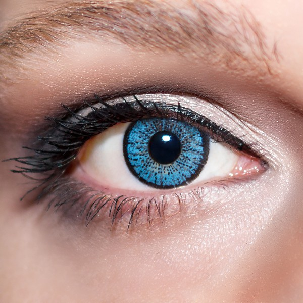 Blaue Kontaktlinsen farbige hellblaue Linsen Blau von KwikSibs, Kristallblaue auch mit Stärken