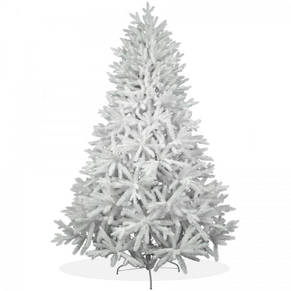 k nstlicher weihnachtsbaum 210cm pe spritzguss schneewei er premium tannenbaum nordmanntanne. Black Bedroom Furniture Sets. Home Design Ideas