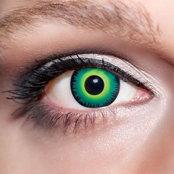 Grüne Kontaktlinsen farbige Wolfsaugen Motivlinsen Werwolf grün von KwikSibs, intensiv