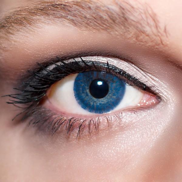 Blaue Kontaktlinsen farbige dunkelblaue Linsen Blau von KwikSibs, Königsblaue auch mit Stärken