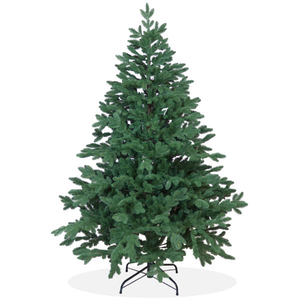 Künstlicher Weihnachtsbaum Nordmanntanne Ultra-DeLuxe PE Spritzguss, grüner Tannenbaum, Christbaum