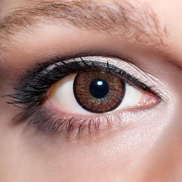 Braune Kontaktlinsen farbige dunkelbraune Linsen von KwikSibs, Braun auch mit Stärken