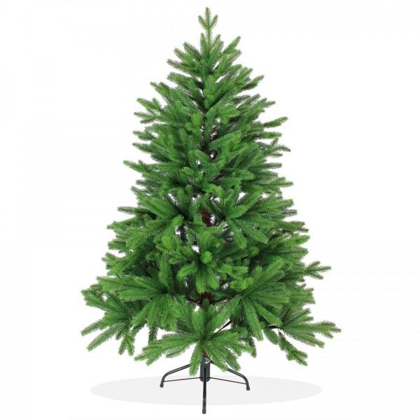 Künstlicher Weihnachtsbaum 150cm PE Spritzguss, grüner Premium Tannenbaum Nordmanntanne, Christbaum