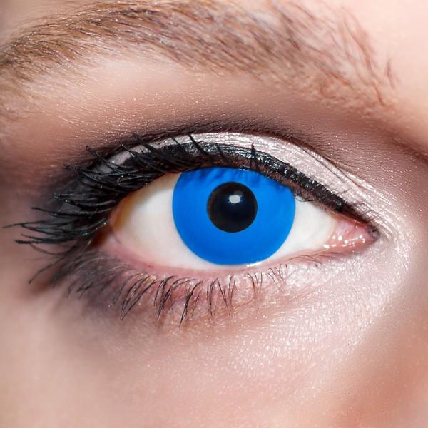 Blaue Kontaktlinsen farbige Königsblaue Motivlinsen blau von KwikSibs, intensiv