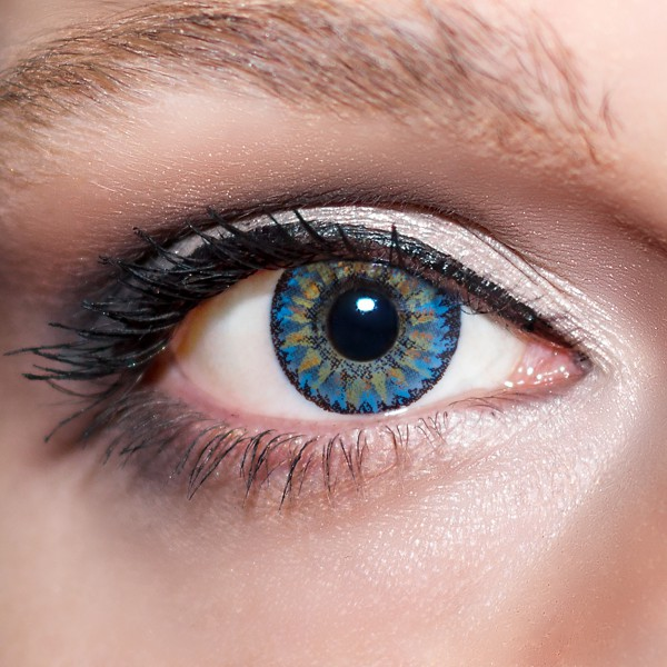 Blaue Kontaktlinsen farbige dunkelblaue Linsen Blau von KwikSibs, Königsblaue ohne Stärken (Plan)