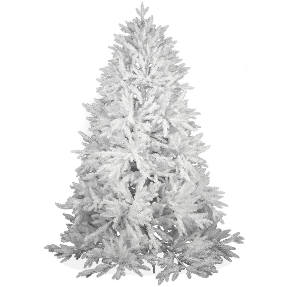 k nstlicher weihnachtsbaum wei spritzguss 180cm nordmanntanne deluxe. Black Bedroom Furniture Sets. Home Design Ideas