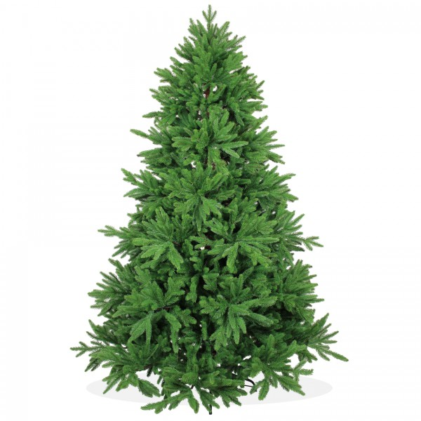 Künstlicher Weihnachtsbaum 210cm DeLuxe PE Spritzguss, grüner Tannenbaum Nordmanntanne, Christbaum