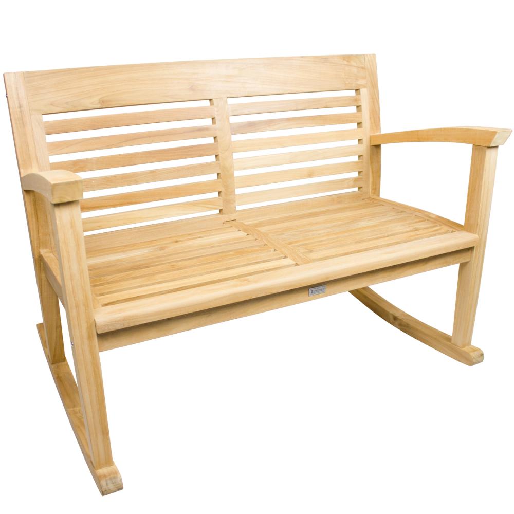 teakholz gartenbank golea mit wippfunktion 120cm. Black Bedroom Furniture Sets. Home Design Ideas