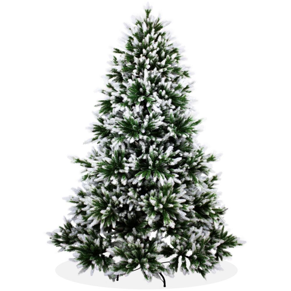 k nstlicher weihnachtsbaum angeschneit spritzguss 210cm nordmanntanne deluxe. Black Bedroom Furniture Sets. Home Design Ideas