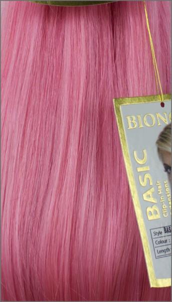 Clip-in Haar Extensions mit Echthaar, Pink, BASIC von BIONORA, 43/53/63cm, 70/80/90 Gr.
