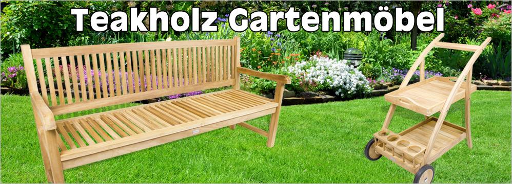 Teak Gartenbank kaufen - Teakholz Gartenbänke günstig online bestellen.