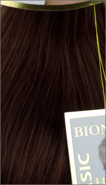 Clip-in Haar Extensions mit Echthaar, #33, Mahagoni, BASIC von BIONORA, 43/53/63cm, 70/80/90Gr.