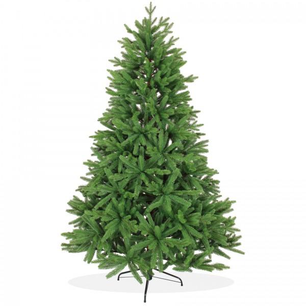 Künstlicher Weihnachtsbaum 210cm PE Spritzguss, grüner Premium Tannenbaum Nordmanntanne, Christbaum