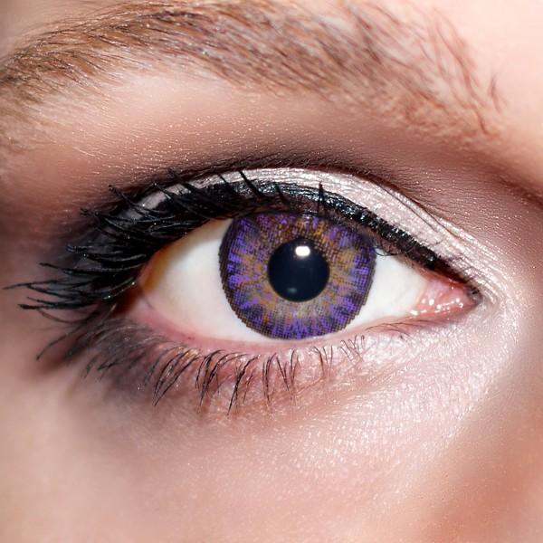 Violette Kontaktlinsen farbige lila Linsen Violett von KwikSibs, ohne Stärken (Plan)