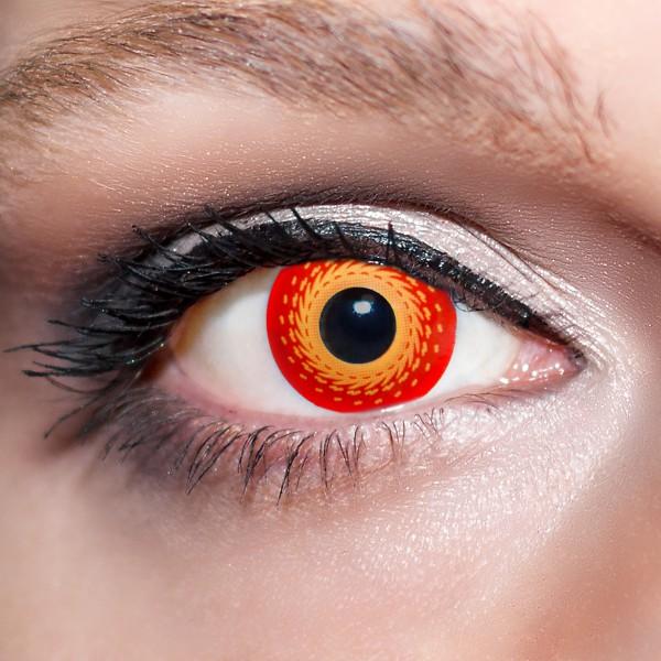 Rote Kontaktlinsen farbige Dämonenaugen Motivlinsen rot Halloween von KwikSibs, intensiv