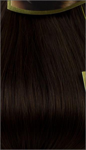 Clip-in Haar Extensions, BIONORA PROFESSIONAL, #04, Schokobraun, 40 50 60 (+) cm, 85/95/105 Gramm