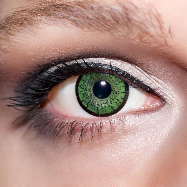 Grüne Kontaktlinsen farbige smaragdgrüne Linsen Grün von KwikSibs, Jadegrüne auch mit Stärken