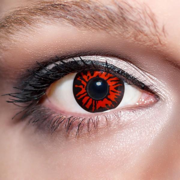 Rote Kontaktlinsen farbige Dämonenaugen Motivlinsen rot von KwikSibs, intensiv