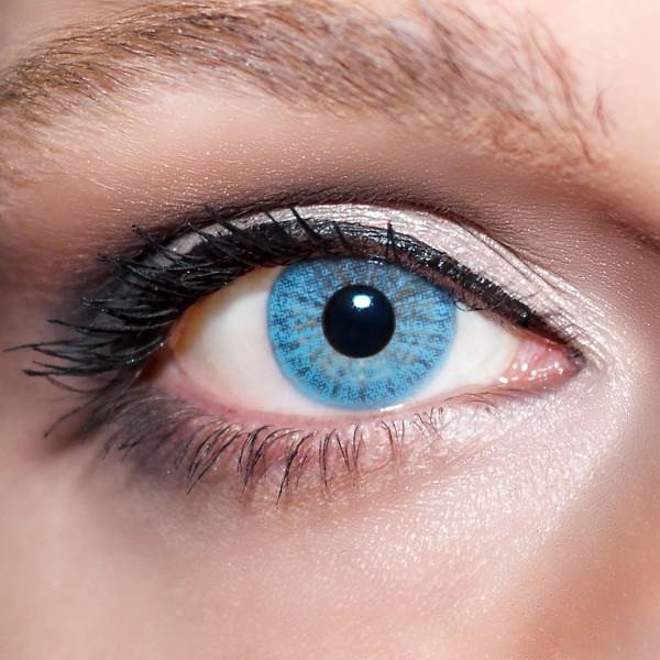 Blaue Kontaktlinsen farbige hellblaue Linsen Blau von KwikSibs, auch mit Stärken