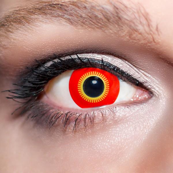 Rote / Gelbe Kontaktlinsen farbige Reptilienaugen / Dämonenaugen Motivlinsen von KwikSibs, intensiv