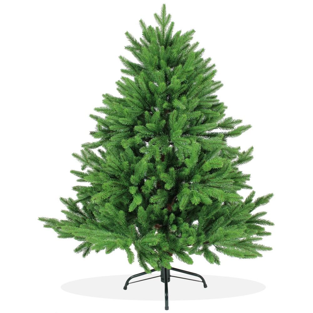 k nstlicher weihnachtsbaum spritzguss 120cm gr n nordmanntanne deluxe. Black Bedroom Furniture Sets. Home Design Ideas