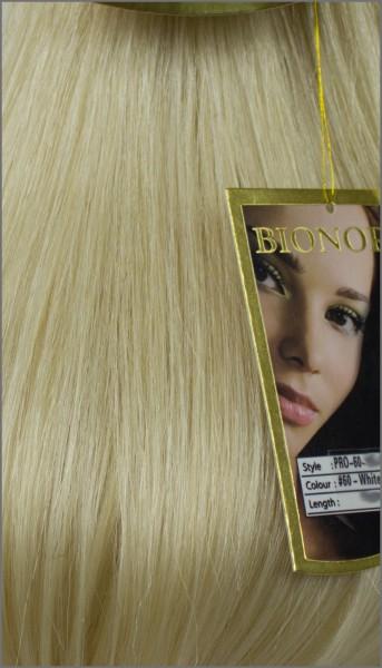 Clip-in Haar Extensions, BIONORA PROFESSIONAL, #60, Weißblond, 40 50 60 (+) cm, 85/95/105 Gramm