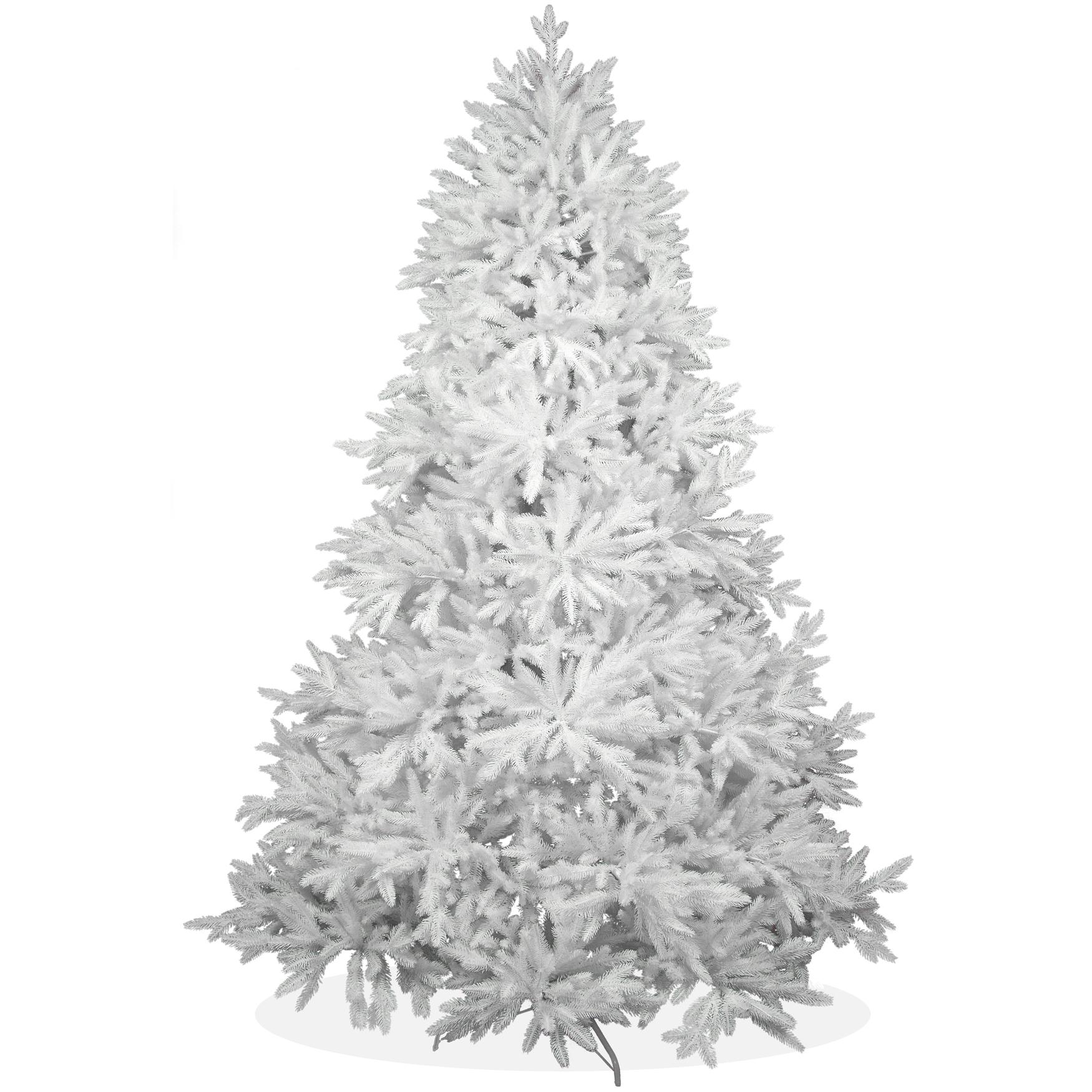 k nstlicher weihnachtsbaum 240cm deluxe pe spritzguss schneewei er tannenbaum nordmanntanne. Black Bedroom Furniture Sets. Home Design Ideas